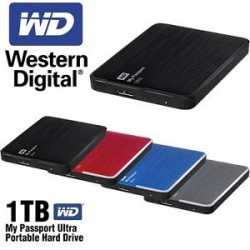 "Western Digital® - External 2.5"" Passport Ultra 1TB USB 3.0 / BLUE"