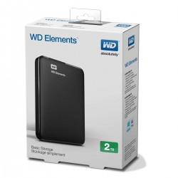 "WD - External 2.5"" Elements 2TB USB 3.0 / BLACK"
