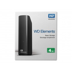 "WD - External 3.5"" Elements 4TB USB 3.0 / BLACK"