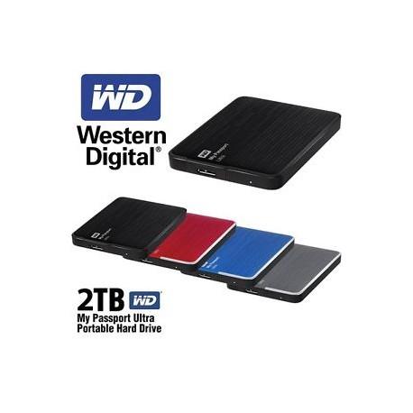"Western Digital® - External 2.5"" Passport Ultra 2TB USB 3.0 / BLACK"