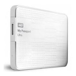 "Western Digital® - External 2.5"" Passport Ultra 1TB USB 3.0 / WHITE"